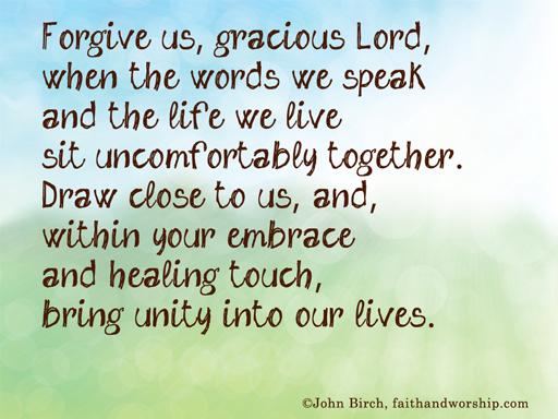 Prayer to forgive someone